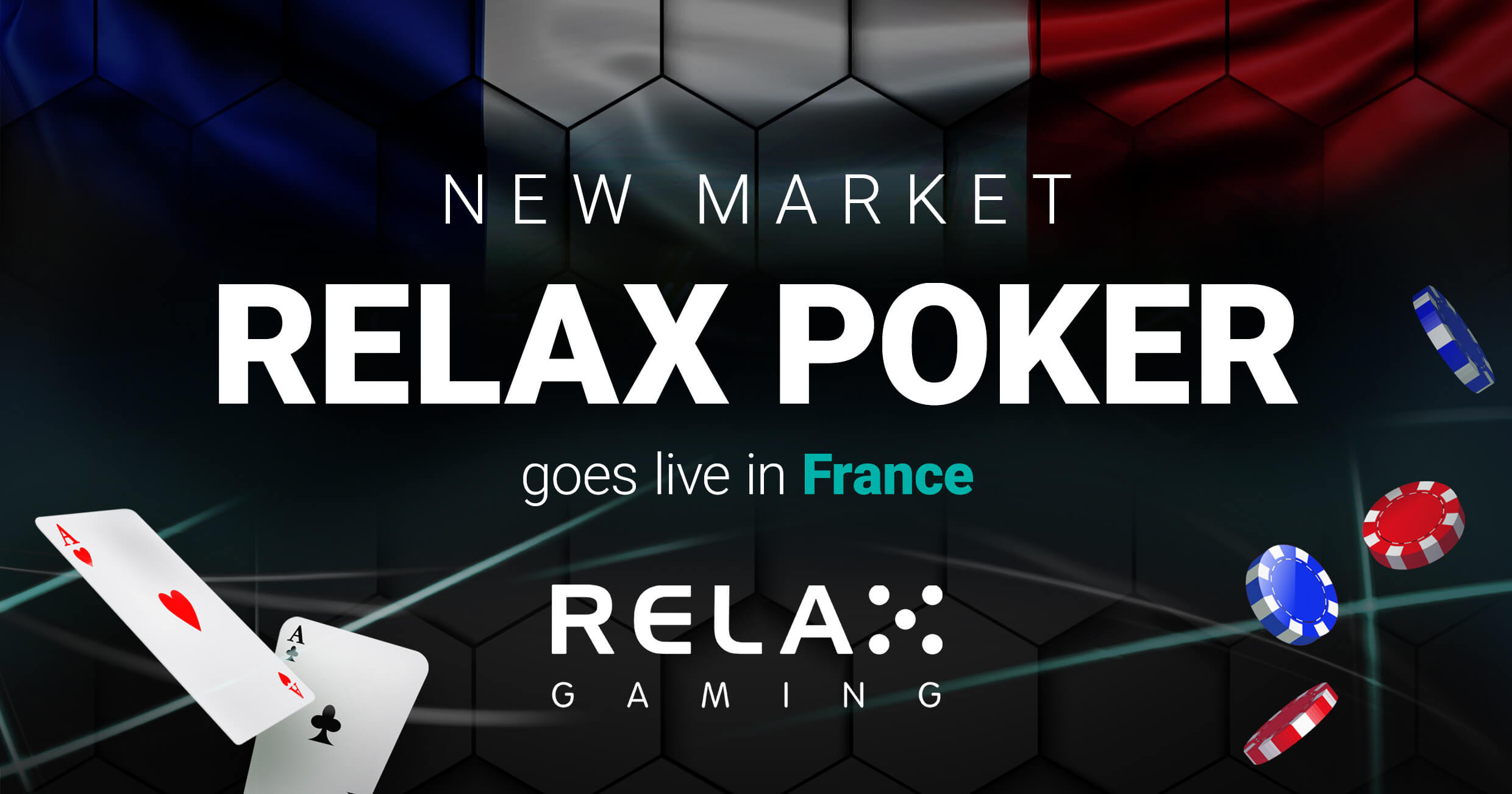 Relax Gaming celebrates 5 years of Poker Success with French market entry