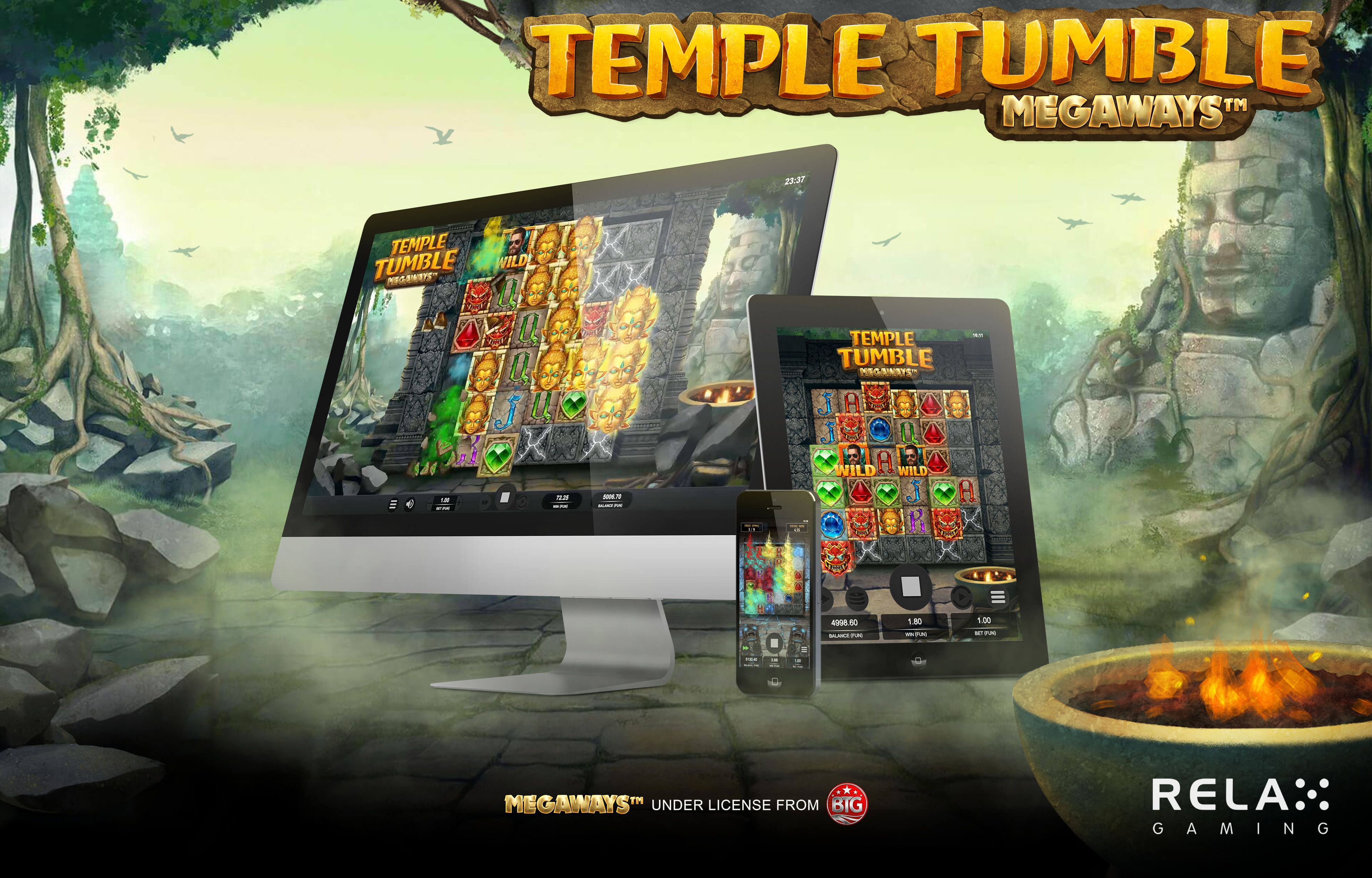 Relax Gaming unveils Temple Tumble