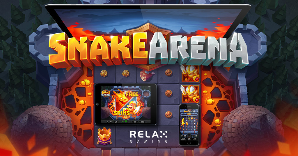 Relax Gaming launches action-packed new slot Snake Arena across network