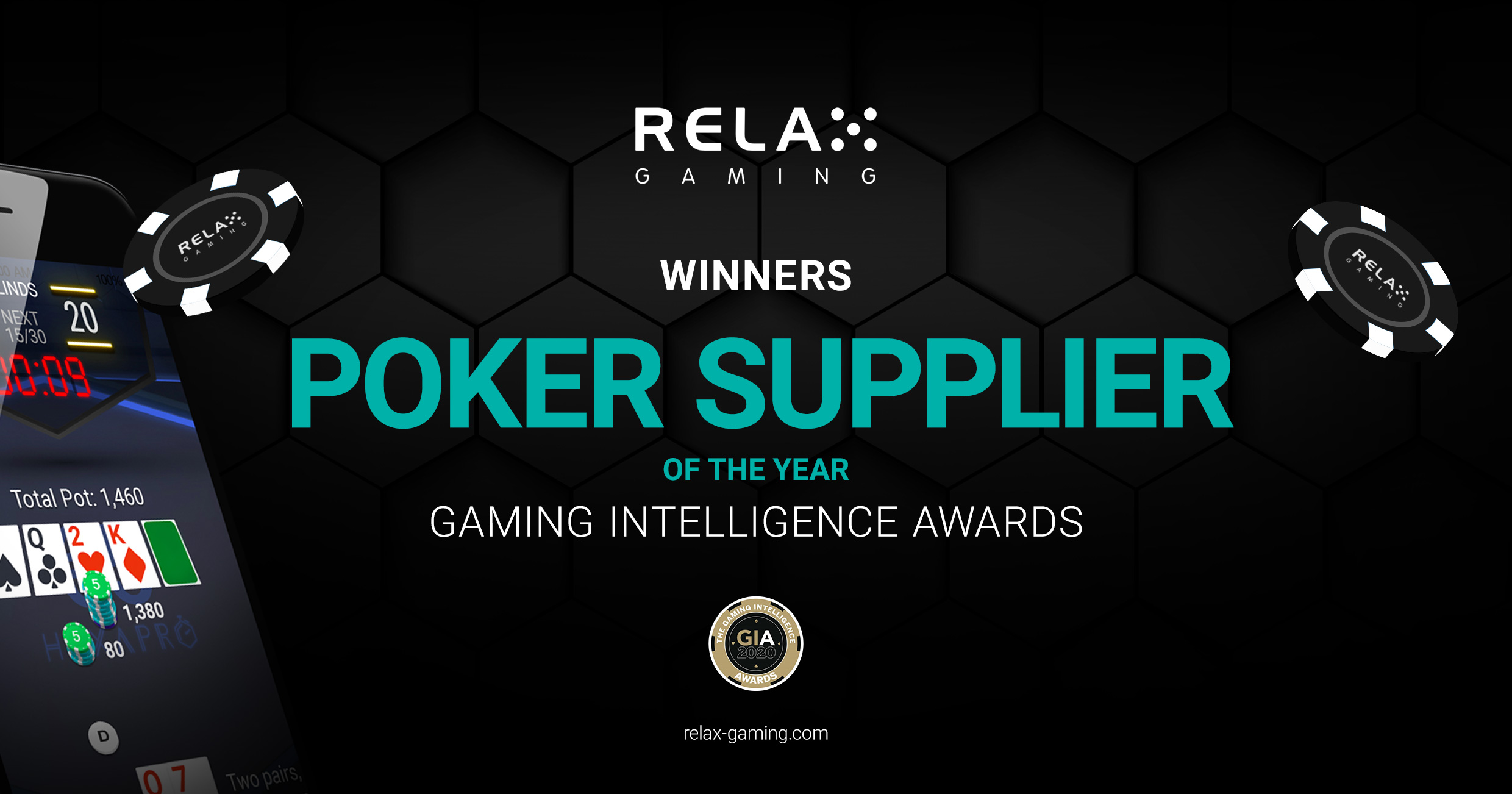 Relax Gaming crowned as Poker Supplier of the Year at Gaming Intelligence Awards