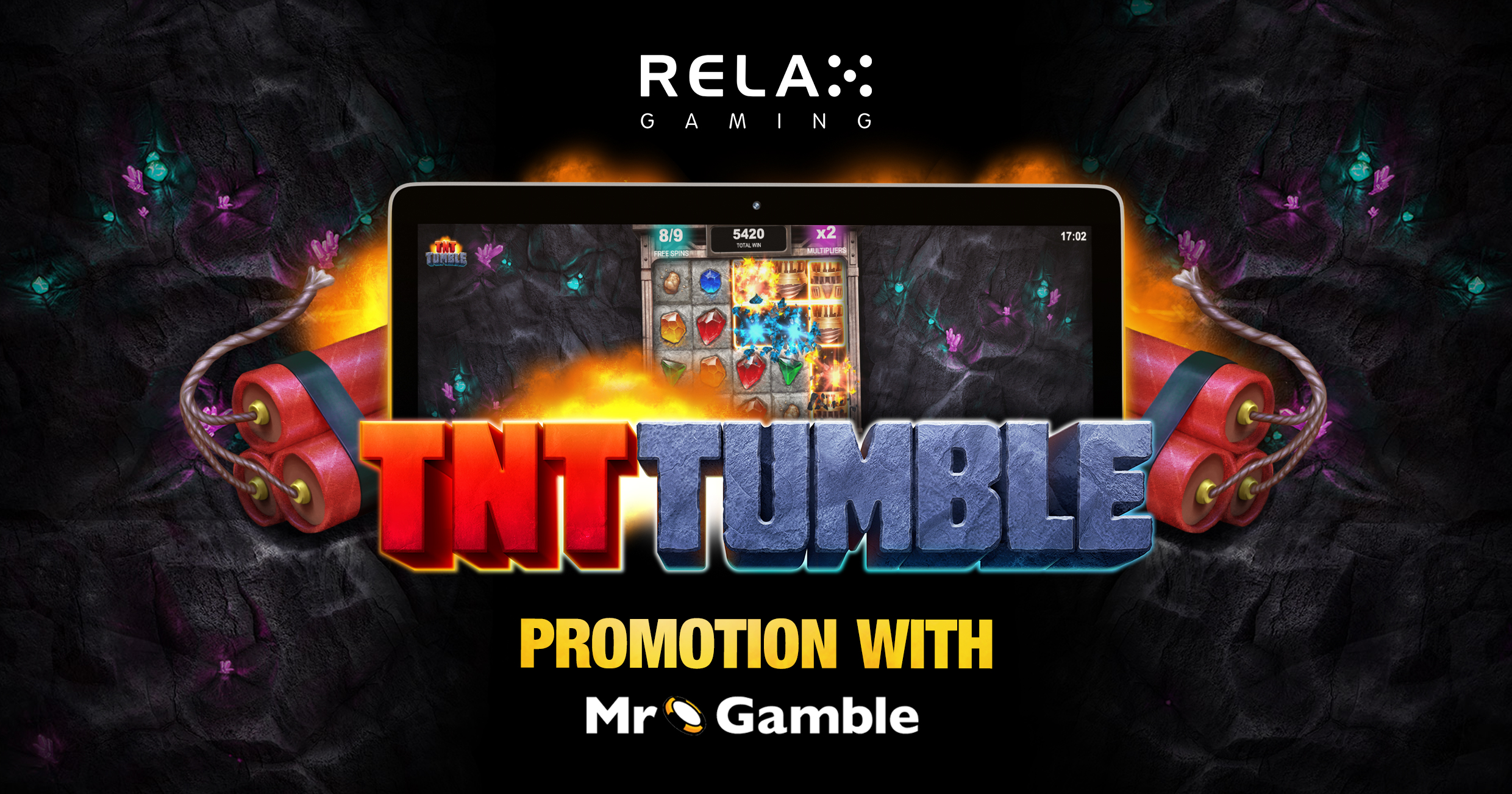 Relax Gaming collaborates with Mr. Gamble in run up to TNT Tumble launch