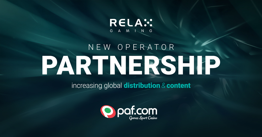 Relax Gaming partners with Paf