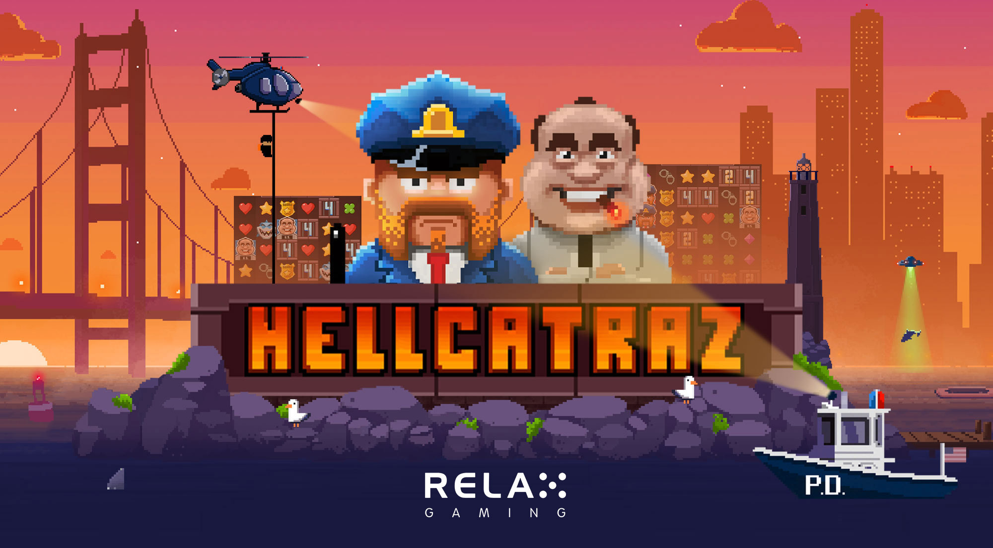 Escape from the prison bars of Relax Gaming's latest release Hellcatraz