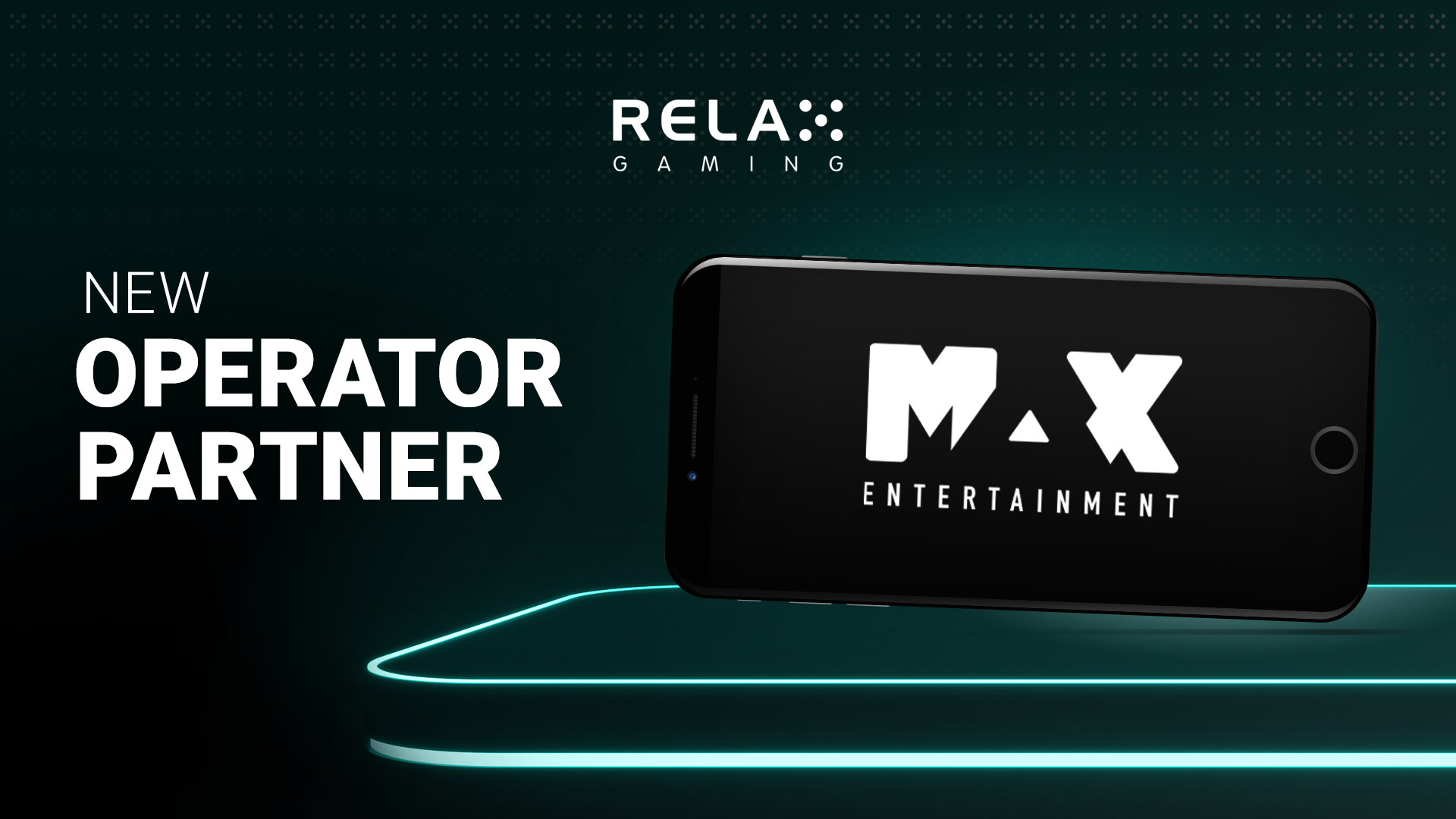 Relax Gaming teams up with Max Entertainment