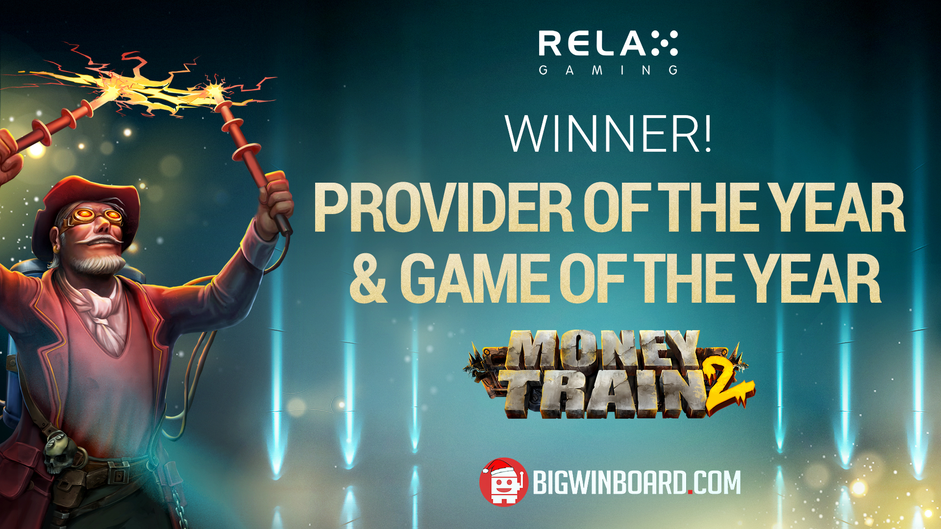 Relax wins Bigwinboard's Game of the Year & Provider of the Year!