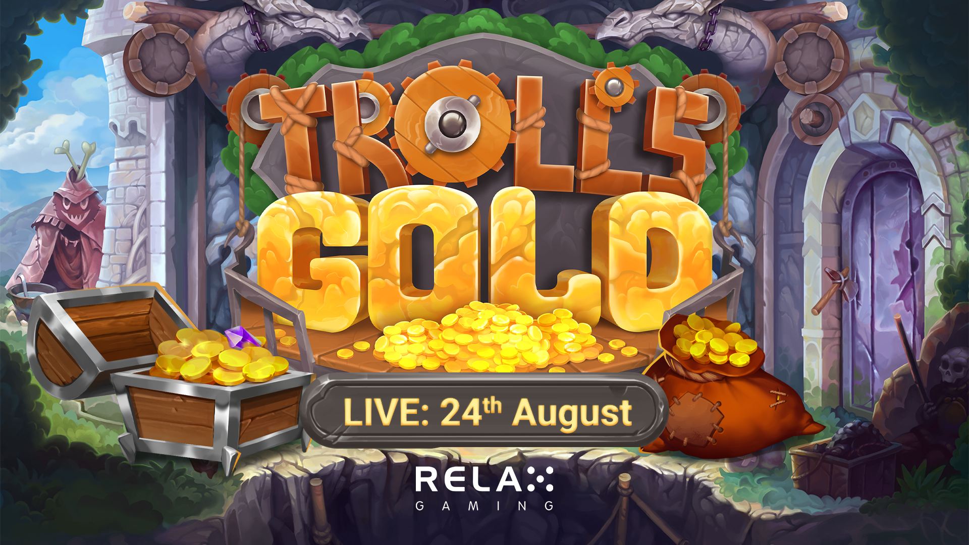 Relax Gaming launches glistening release Trolls' Gold